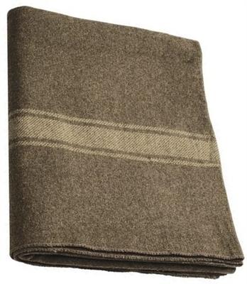 Italian 100 Wool Blanket New 81x64 Cold Weather Blanket